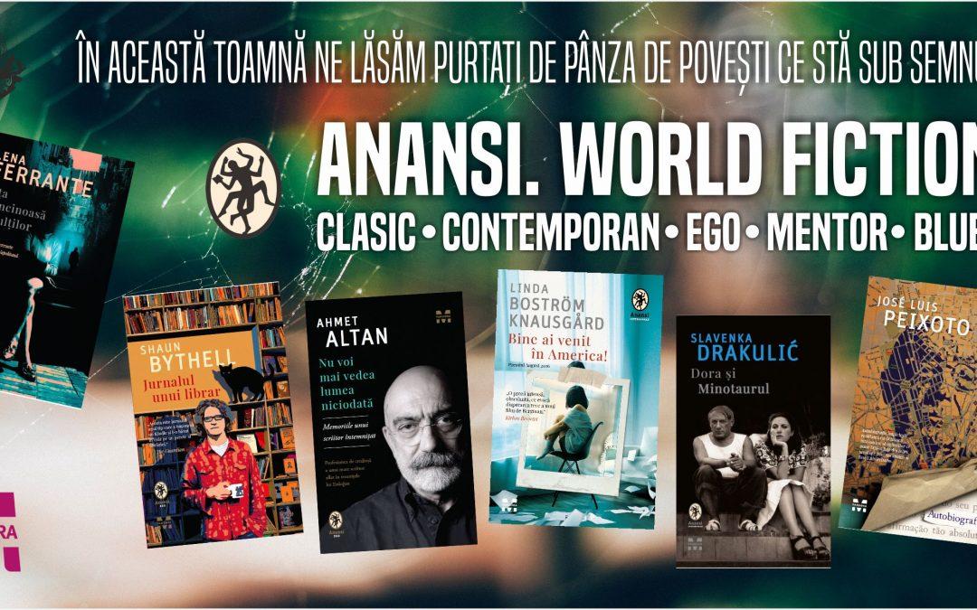 Anansi. World Fiction, noua colecție de literatură universală a editurii Pandora M, colecția toamnei la Bufnițe