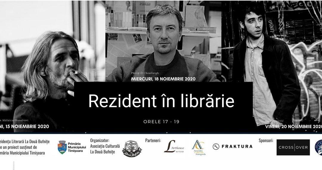 Rezident în librărie. Marin Mălaicu-Hondrari, Philip Ó Ceallaigh și Sven Popović se întâlnesc săptămâna viitoare cu cititorii din Timișoara