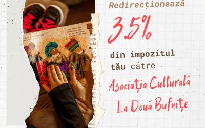 Redirecționați 3.5% din impozitul anual pe care îl datorați către Asociația Culturală La Două  Bufnițe