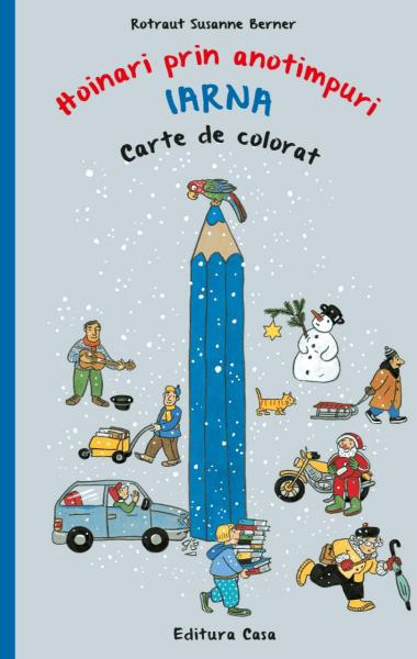 hoinari prin anotimpuri iarna carte de colorat