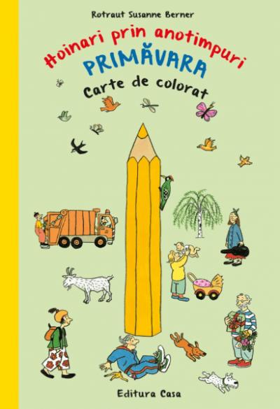 hoinari prin anotimpuri primavara carte de colorat